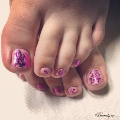 Shellac foot Pedicure in Canterbury by Beauty Spa